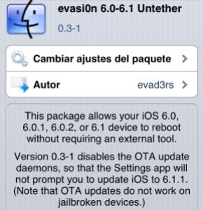 Evasion Cydia Update