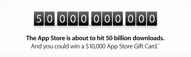 50 mil miilones app store