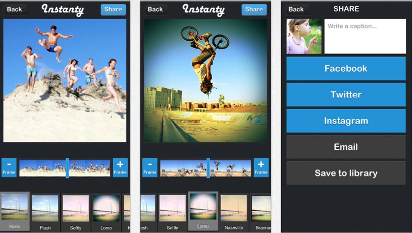 Instanty: App para extraer las mejores fotos desde vídeos y aplicar filtros para guardar o compartir
