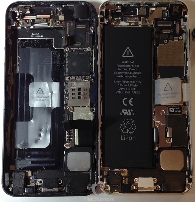 Se filtran mas fotos del iPhone 5S confirmando características: Flash Dual en colores, Memoria, Chip