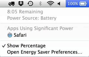OS X Mavericks batterypower