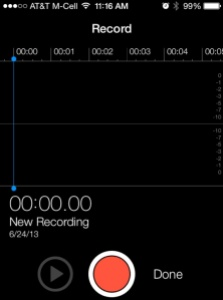 recording App iOS7