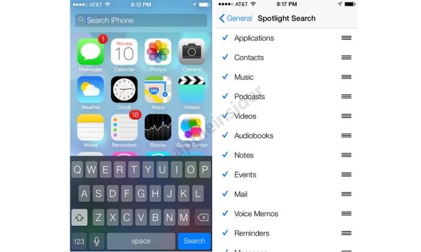 SpotLight iOS7