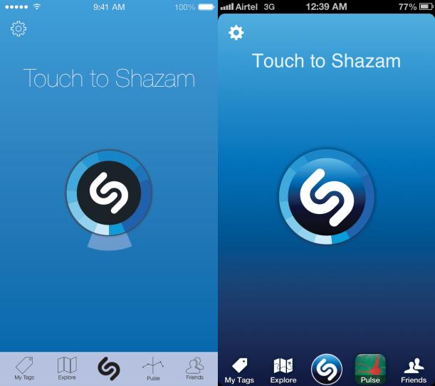 Shazam iOS7