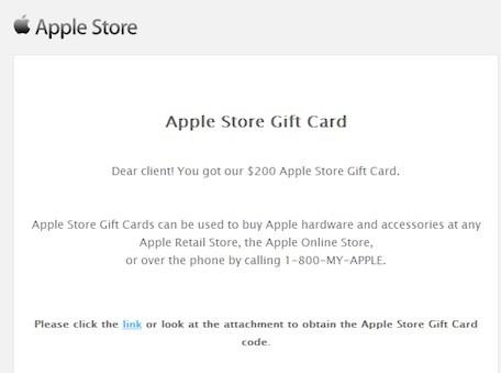 Correo Falso Gift card