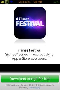 iTunes Festival Songs gratis