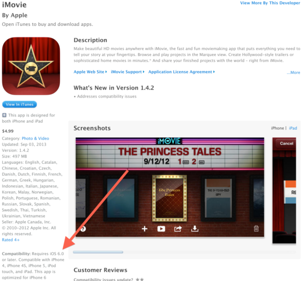 iMovie Optimizada para iPhone 6