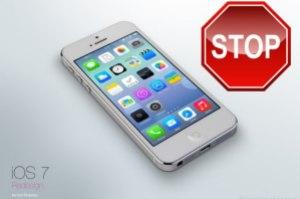 Stop iOS 7