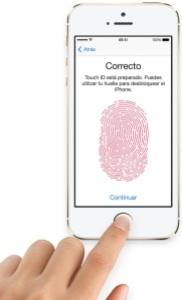 Touch ID (Huella dactilar) en iPhone 5S