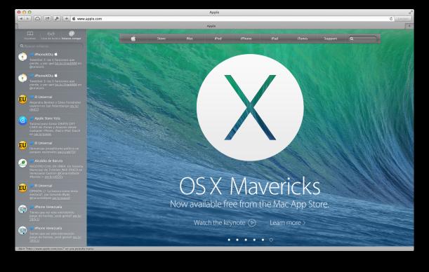 Captura Safari OSX 10.9