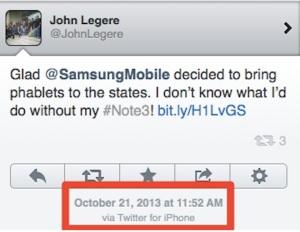 John Legere iphone 5 tuit