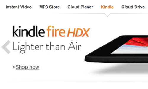 Kindle Fire lighter than Air