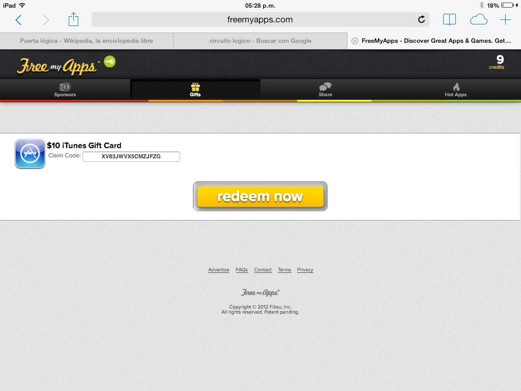 iOS] FreeMyApps el mejor servicio para ganar Gift Card    en