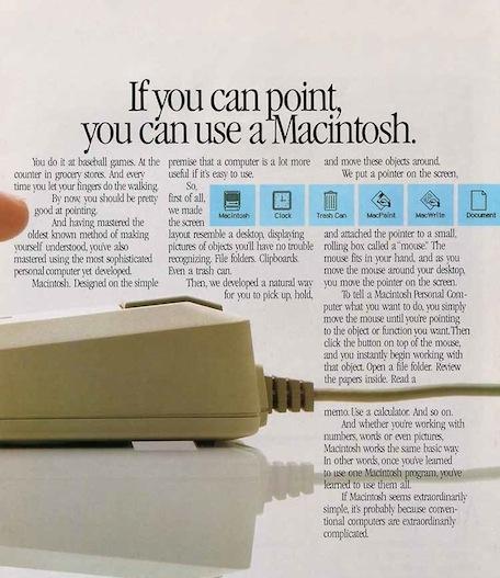 apple mouse mac ad 1983