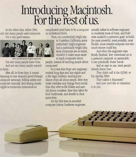 original mac ad for the rest of us 1983
