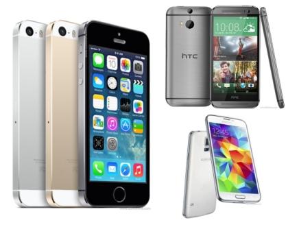 iPhone 5s vs One M8 vs S5