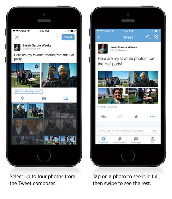 twitter multi fotos etiquetar