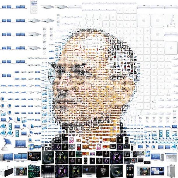 Steve jobs con productos apple